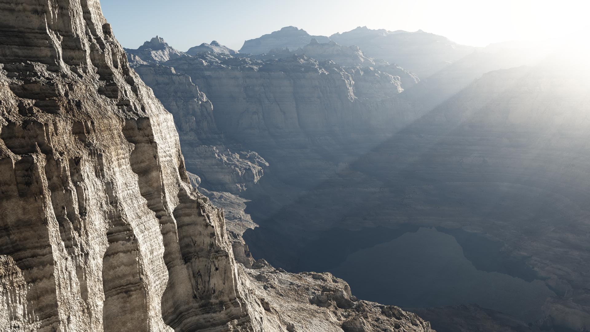 Binary-Worlds Canyon Flight